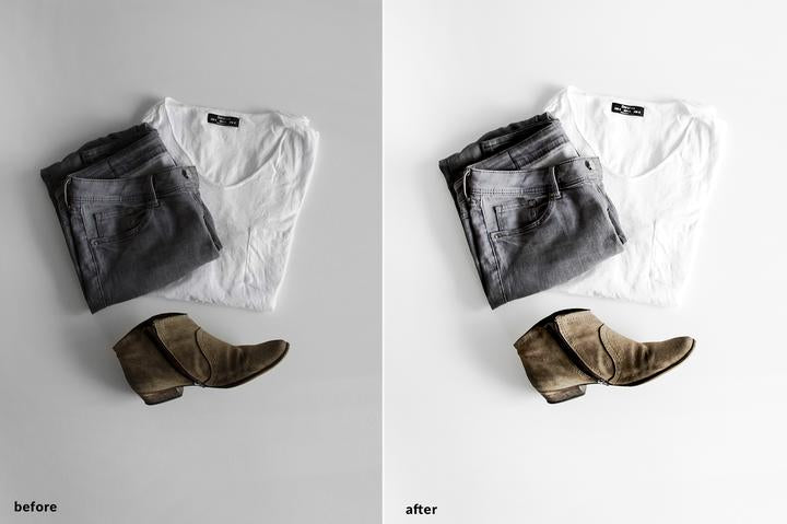 PRODUCT PHOTOGRAPHY WHITE BG LIGHTROOM MOBILE PRESETS