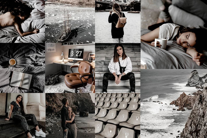 MINIMAL BLOGGER GREY LIGHTROOM PRESETS