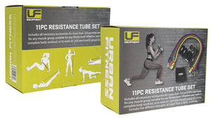 Urban Fitness 11pc Resistance Tube Set
