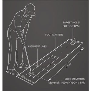 PuttOut Putting Mat & Pressure Trainer