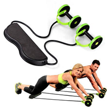 Load image into Gallery viewer, Gym Muscle Exercise Equipment Home Fitness Equipment Double Wheel Abdominal Power Wheel Ab Roller Gym Roller Trainer Training