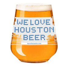 Load image into Gallery viewer, We Love Houston Skyline Blue Tile Stemless Teku