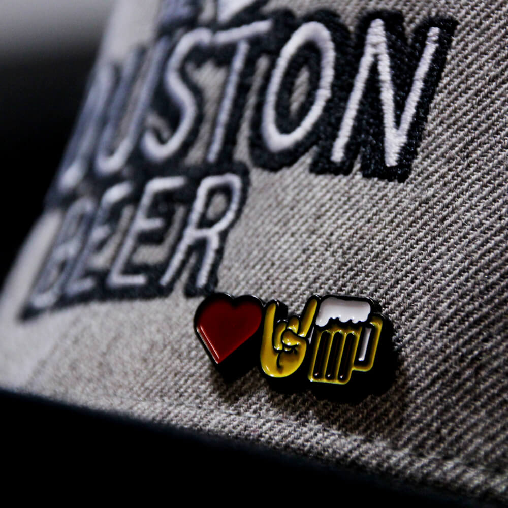 We Love Houston Emoji Pin