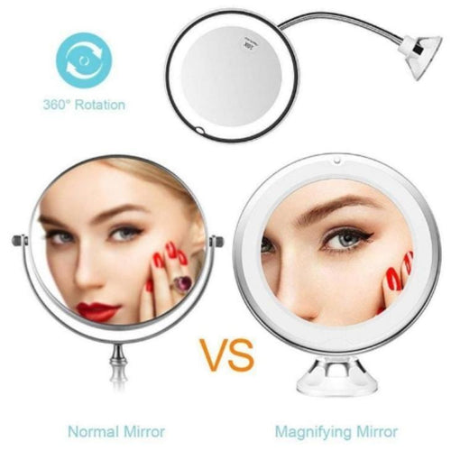 FLEXIBLE Mirror™ Light Up Makeup Mirror (SAVE 30% TODAY)