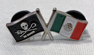 Pin: Sea Shepherd and Mexico Flags