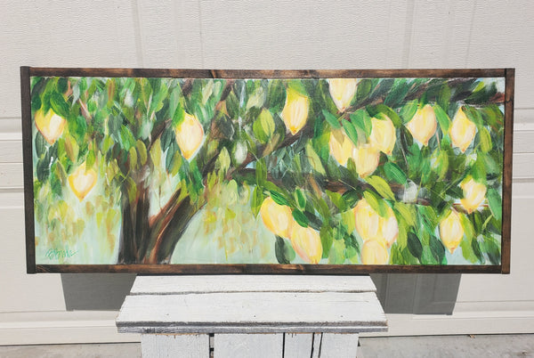Lemon Tree 16x40 (framed)