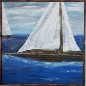 Smooth Sailing 36x36 (framed)