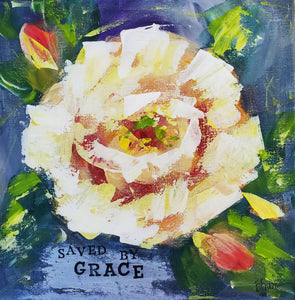 "Saved by Grace 12""x12"""