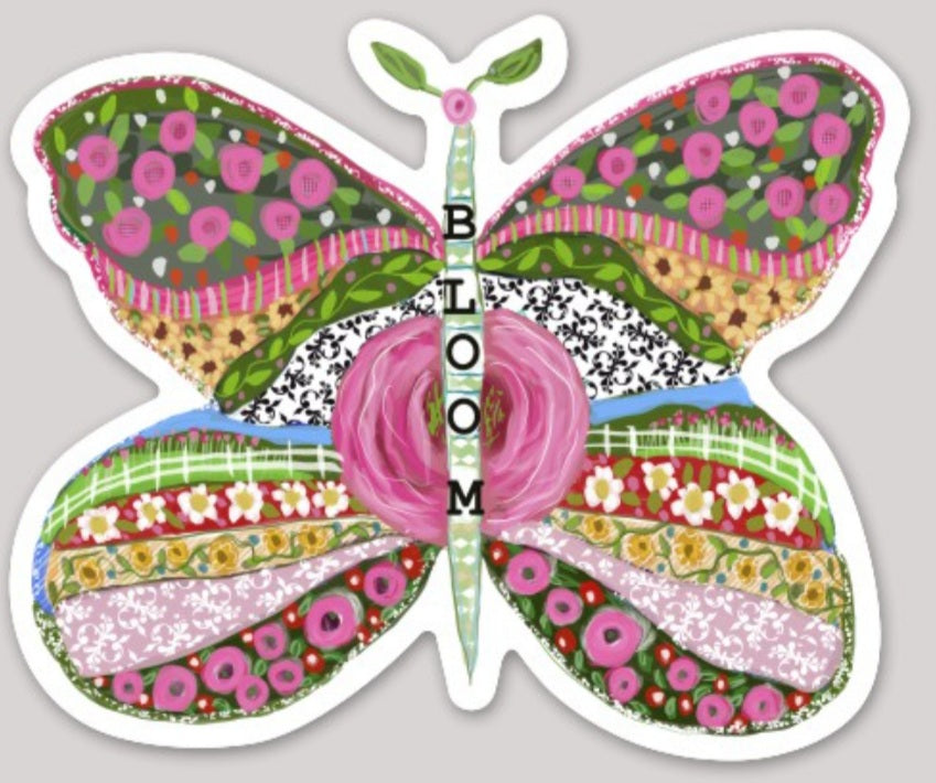 """Bloom"" Butterfly Sticker"