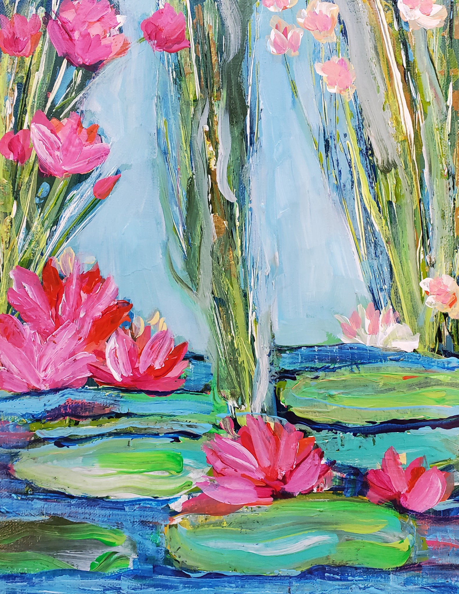 Lily Pads 9x12
