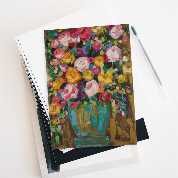 """Party Time Bouquet"" Journal - Ruled Line"