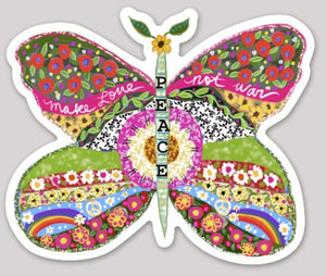 """Peace"" Butterfly Sticker"