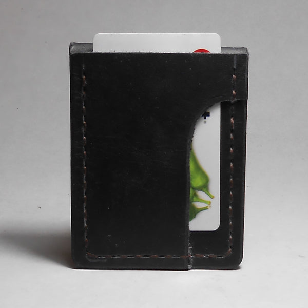 W2M | 1 Card Minimalist Wallet-Black - Shock and Awl Leatherwork