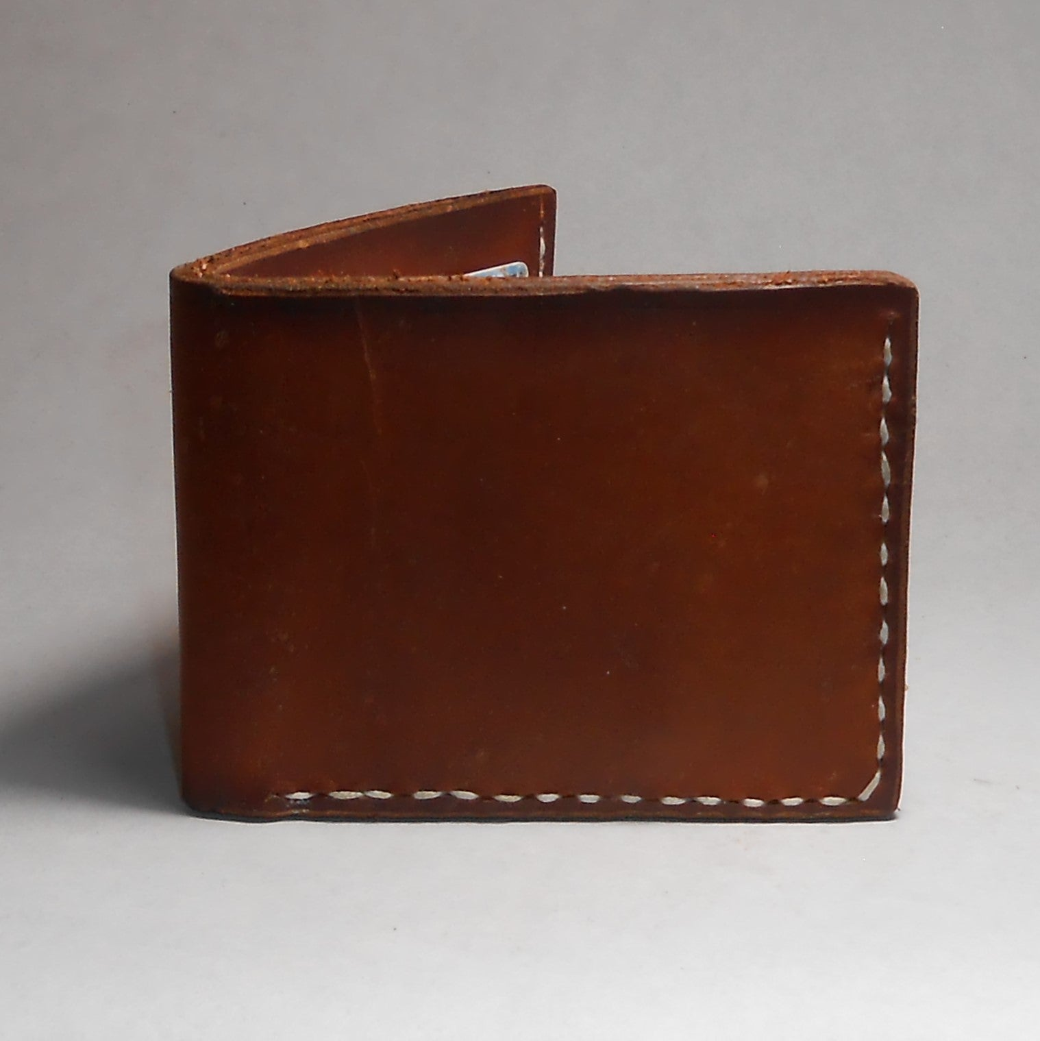 W4B | 4 Card Bi-fold Wallet-Tan - Shock and Awl Leatherwork