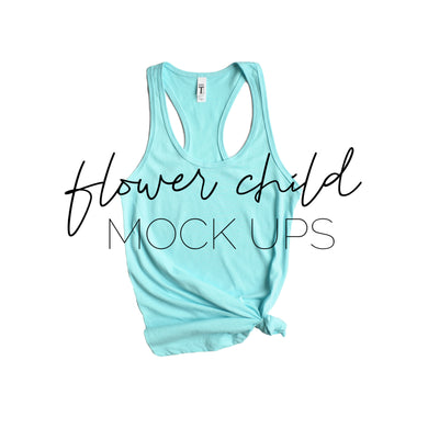 Next Level 1533 Cancun Mock-up Side Knot - flowerchildmockups