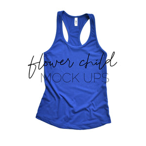 Next Level 1533 Royal Blue Mock-up Flat - flowerchildmockups