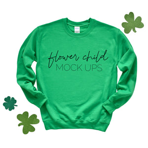 Gildan 180 Irish Green St Patrick's Day Mockup - flowerchildmockups