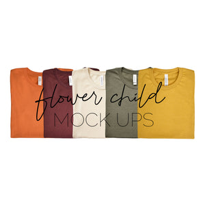 Bella Canvas Fall Autumn Color Showcase - flowerchildmockups