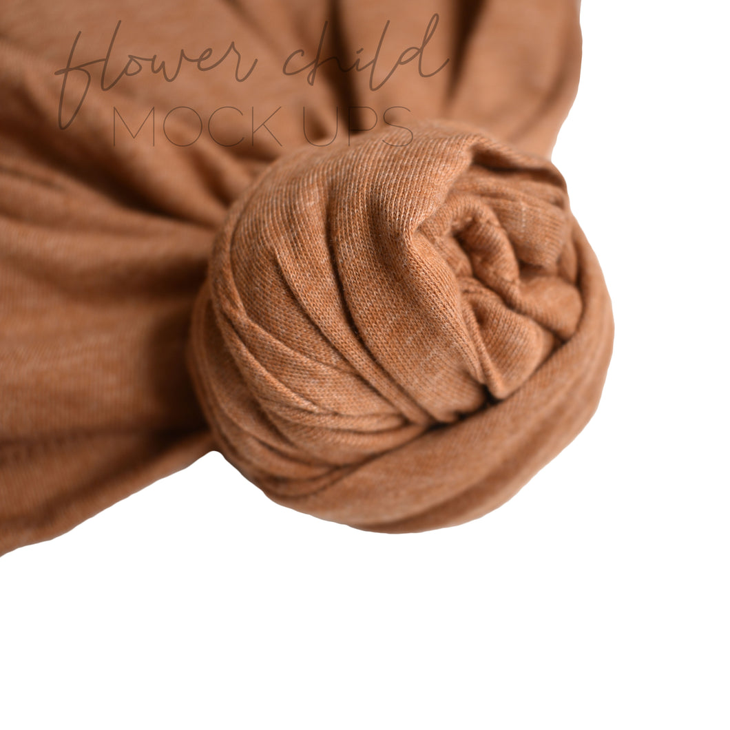 Bella Canvas 3001 Heather Autumn Knot Detail - flowerchildmockups