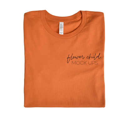 Bella Canvas 3001 Burnt Orange Folded - flowerchildmockups