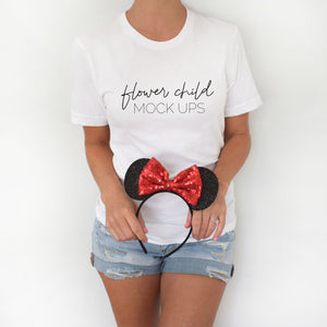 Disney Mockup Bella Canvas 3001 White - flowerchildmockups