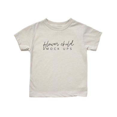 Bella Canvas 3001T Heather Dust Mockup - Youth Toddler Mockup