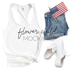 4th of July Mockup Next Level 1533 White - flowerchildmockups