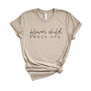 Bella Canvas 3001 Heather Tan Mockup