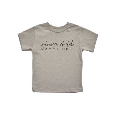 Bella Canvas 3001T Heather Stone Mockup - Youth Toddler Mockup