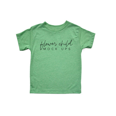 Bella Canvas 3413T Green Triblend Mockup - Youth Toddler Mockup