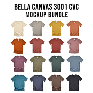 Bella Canvas 3001CVC Mockup Bundle Relaxed