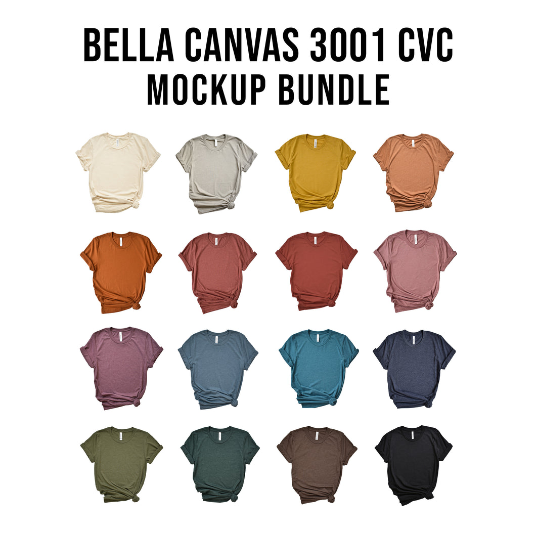Bella Canvas 3001CVC Mockup Bundle Side Knots