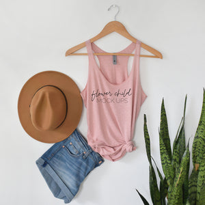 Next Level 6733 Desert Pink Mockup Boho - flowerchildmockups