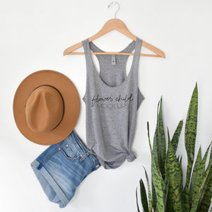 Next Level 6733 Premium Heather Gray Mockup boho - flowerchildmockups