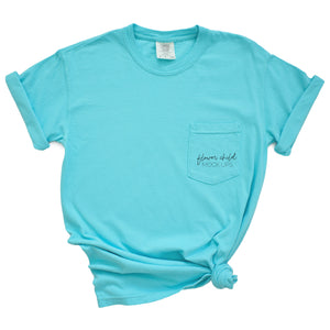 Comfort Colors Mockup 6030 Lagoon Side Knot - flowerchildmockups