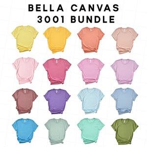 Bella Canvas 3001 Spring Mockup Bundle - flowerchildmockups