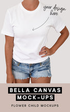 Load image into Gallery viewer, Model Mockup Bella Canvas 3001 White - flowerchildmockups