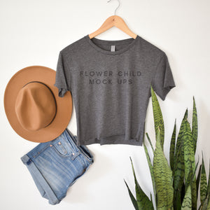 Boho Mockup Next Level 5080 Charcoal - flowerchildmockups