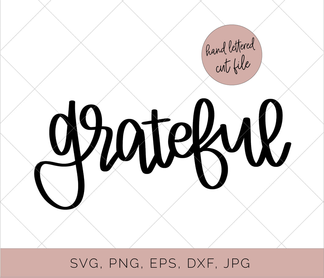 Grateful Cut File - flowerchildmockups