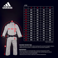 adidas Judo J930 Uniform - Ijf Approved - White