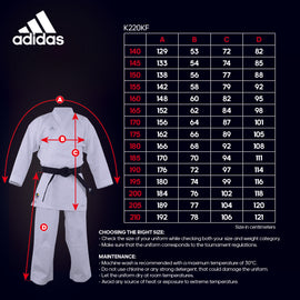 adidas K220Kf Karate Uniform - Kumite Fighter