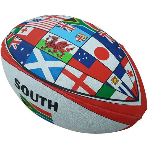 Snt World Cup Flag Rugby Ball- Size 5
