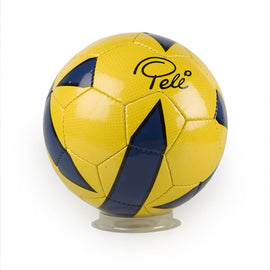 Pele Signature Stitched Blue/Yellow Soccer Ball
