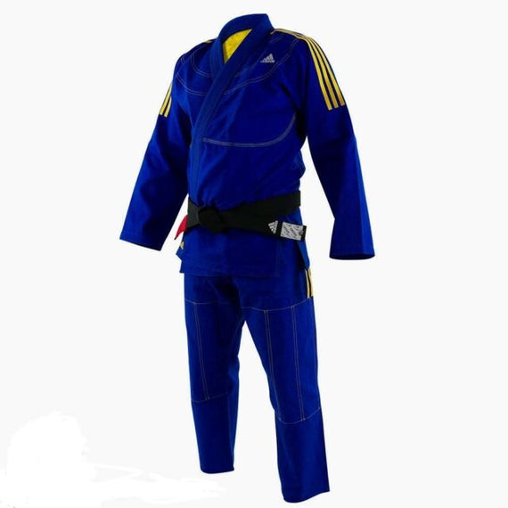 Adidas BJJ Uniform- Blue and Gold