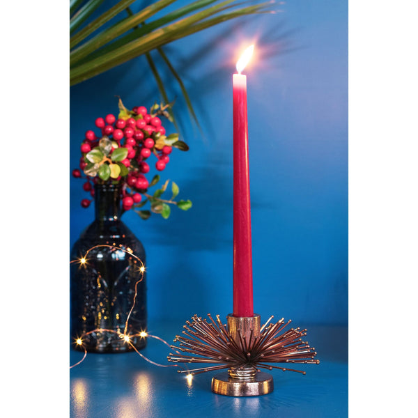 Decorative Metal Candle Holder – Small
