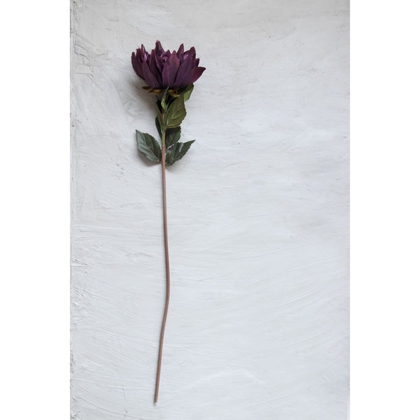 Vibrant Spider Mum Flower Stick – Dark Violet ( Set of 2 Sticks )