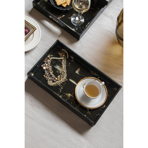 Digital Print Serving Tray - Black Acrylic Tray – Medium