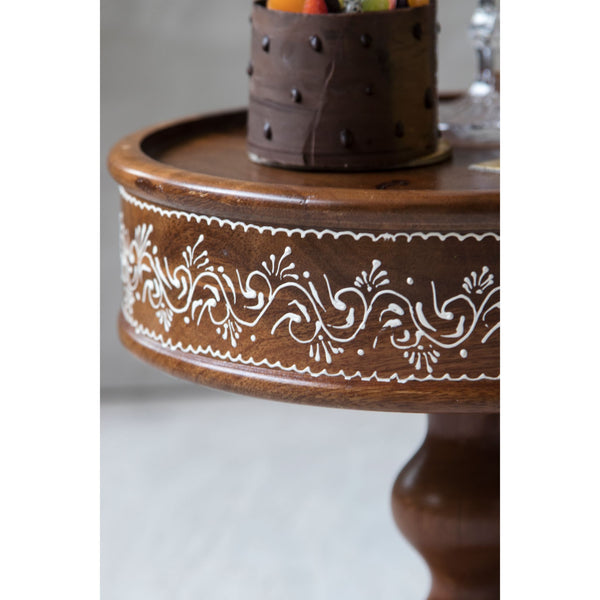 Wooden cake stand hand painted