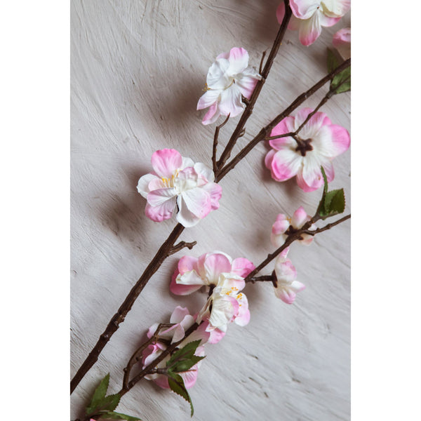 Imitation Magnolia Flower Stick – Pink ( Set of 2 Sticks )