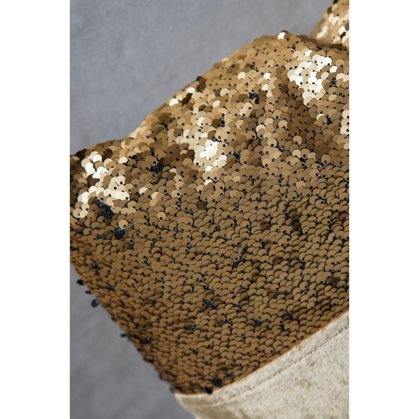Shiny and Chic Gold Square Cushion (Including Filler)